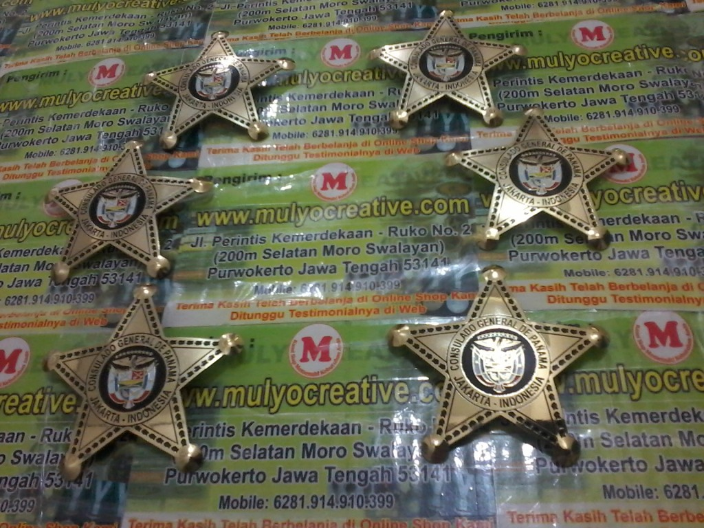 Lencana Pin Kuningan Emblem Sharif Mulyocreative