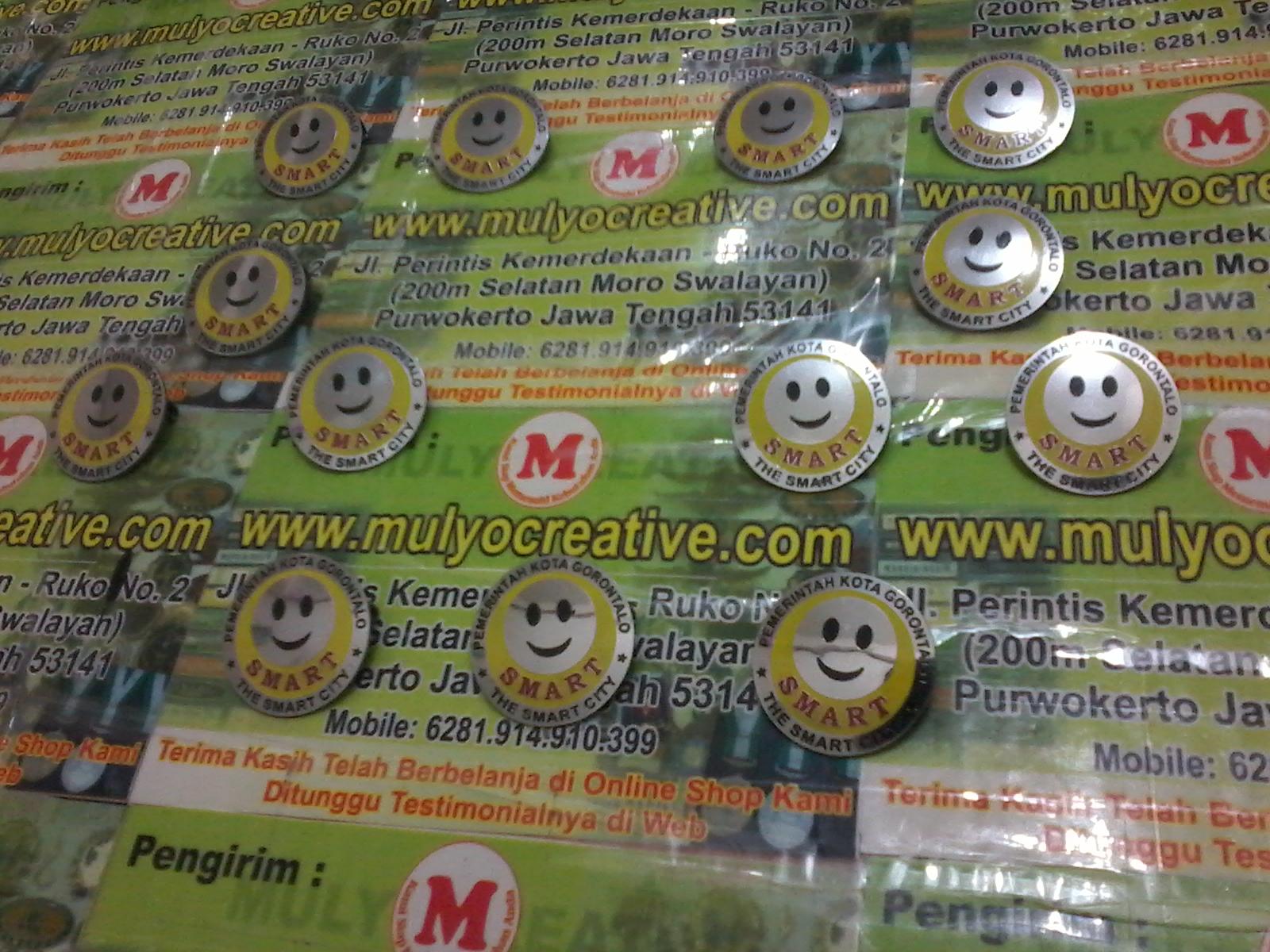 Lencana Pin Logam Smart Gorontalo mulyocreative