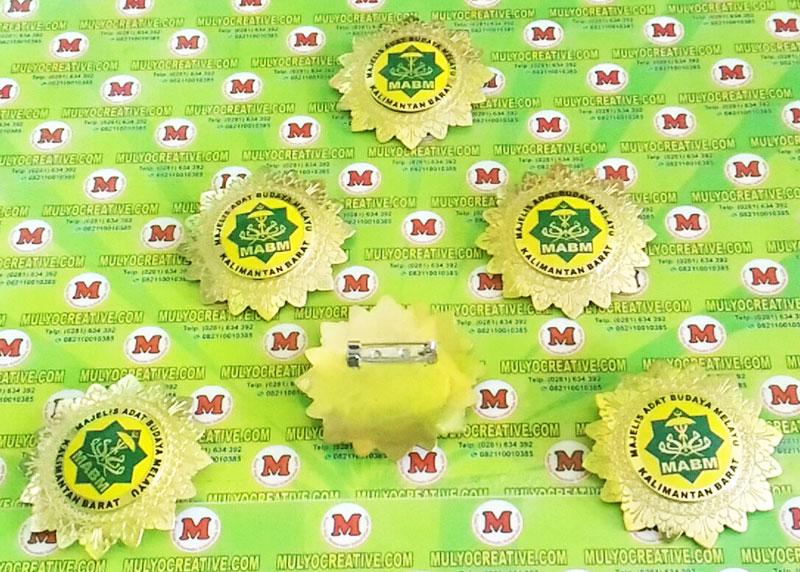 Jual Pin Lencana Logo Majelis Adat Budaya Melayu Kalimantan Barat