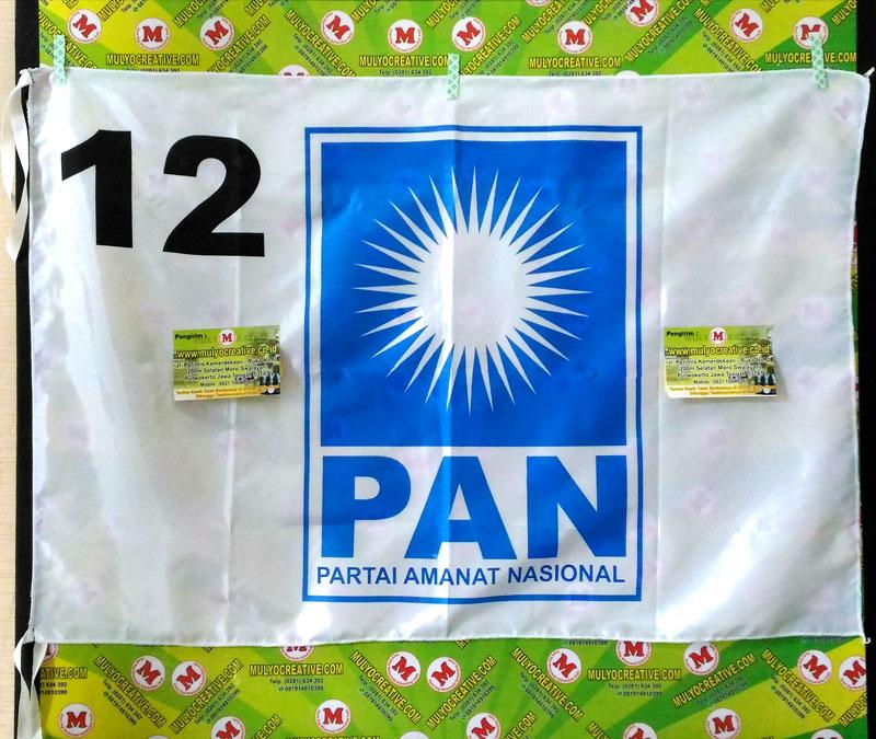 Partai PAN, Pesan bendera partai sablon harga murah