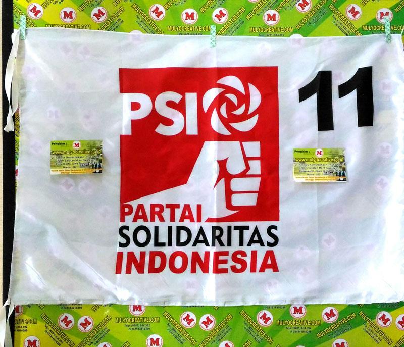 Partai PSI, Pesan bendera partai sablon harga murah