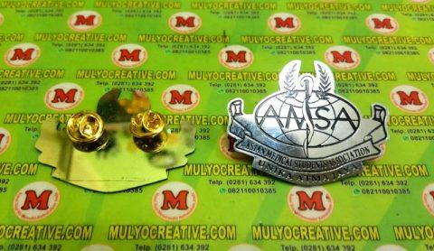 Pin Bros Lencana Universitas Unika Atma Jaya - Logo Asian Medical Student Association AMSA